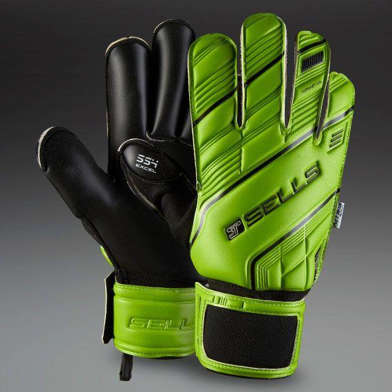 Sells Wrap SMU Green Excel 4 GK Gloves - Green/Black