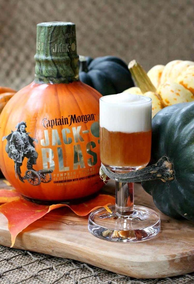 Jack-O Blast Pumpkin Rum Shooters Made med kaptajn-6522