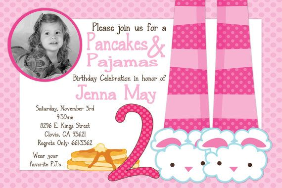 Pancakes & Pajamas Birthday Party Invitation by beenesprout
