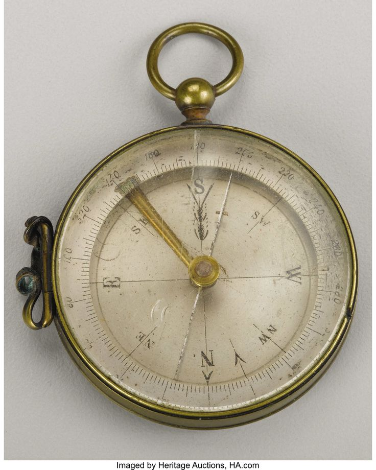 "Compass Inscribed From General Philip Sheridan to H. C. Koch This compass was a gift from Union General Philip Sheridan to his topographical engineer H. C. Koch. Koch, an architect from Milwaukee noted the presentation by having it engraved on the reverse as follows: ""This compass Was given me  By  Gen. P. H. Sheridan on Jan. 3rd 1863 After the Battle of Stone River.   H. C. Koch"".  Heritage Auctions."