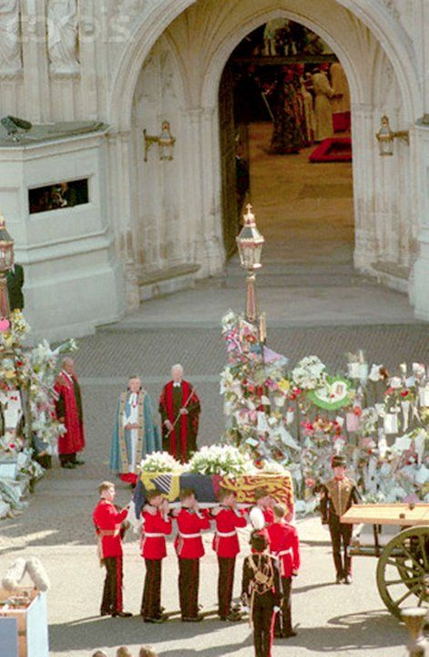 Princess Diana's funeral, September 6, 1997. She died on August 31st after a car crash in Paris.