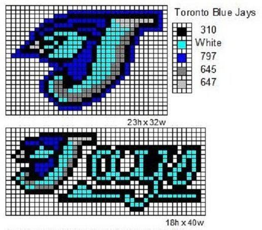 toronto blue cross stitch pattern free - Google Search
