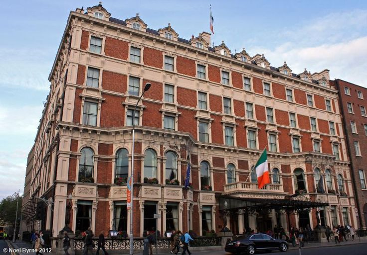 The Shelbourne Hotel, Dublin, Ireland. . Pictured here is the 5 star Shelbourne Hotel, situated on St Stephens Green, Central Dublin. Description from trekearth.com. I searched for this on bing.com/images