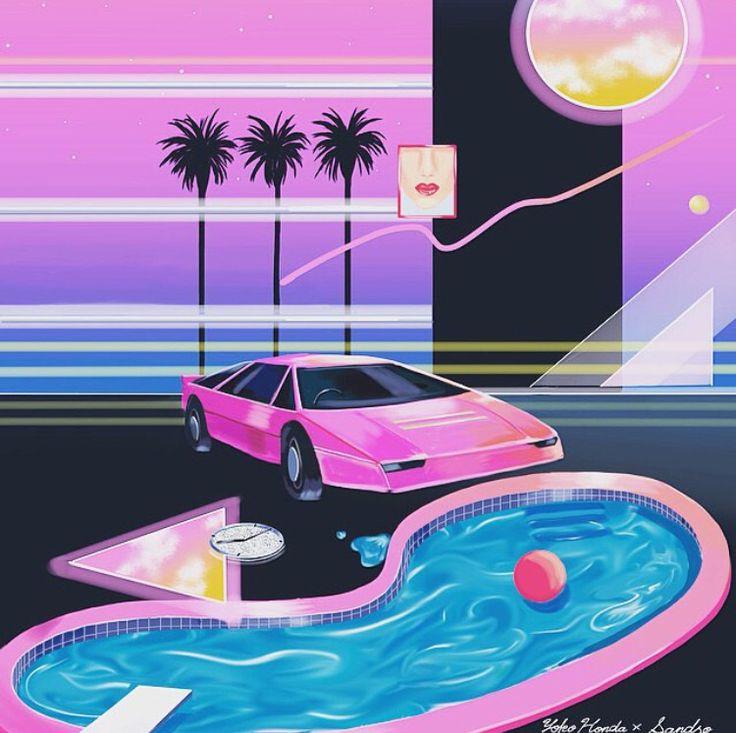 New wave 80s Miami vice art