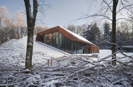 Unusual House Built Inside A Hill