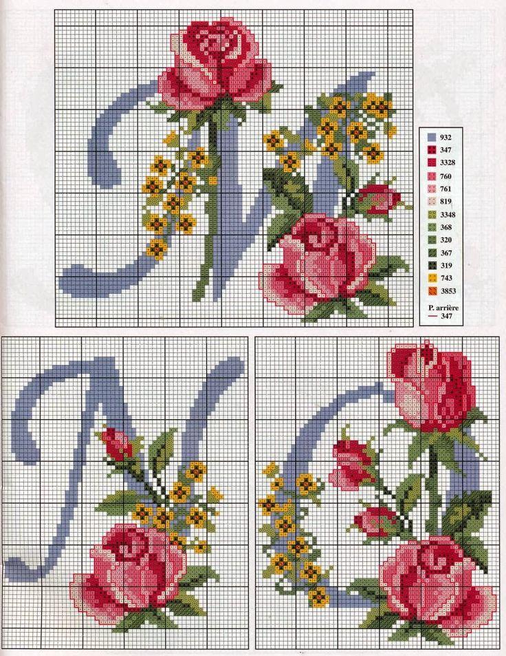 iniciales-con-rosas-5.jpg (888×1150)