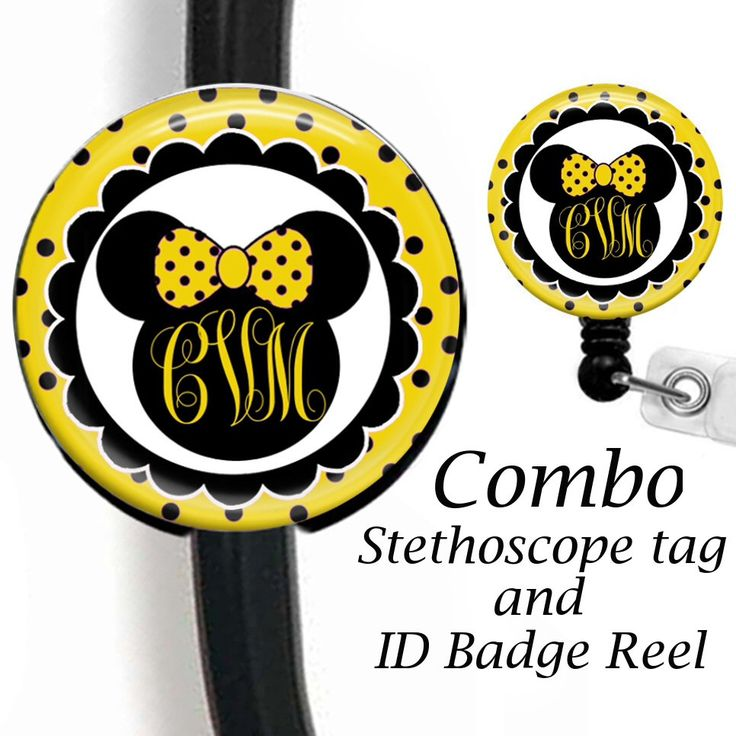 Stethoscope ID Tag And Retractable Badge Reel Combo, ID Badge Holder, Stethoscope Name Tag, Nurse Name Badge Holder, ID Card Holder by sparklinghope on Etsy https://www.etsy.com/listing/524064963/stethoscope-id-tag-and-retractable-badge