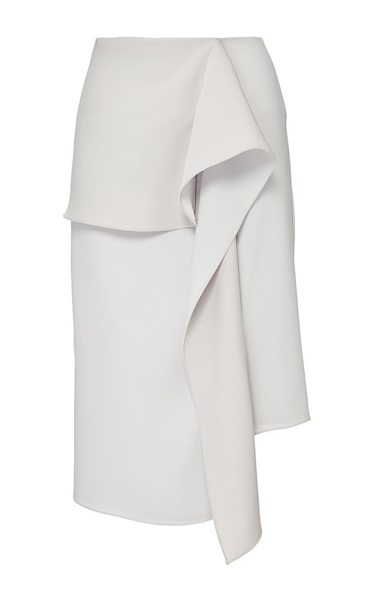 Stone Satin Crepe Wave Drape Skirt by J.W. ANDERSON for Preorder on Moda Operandi
