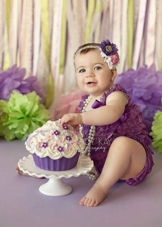 Purple Lace Romper/Petti Romper Set/Lace от OohLaLaDivasandDudes