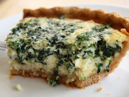 Spinach & Gruyere Quiche - EXCELLENT! Kids thought I was crazy giving ...