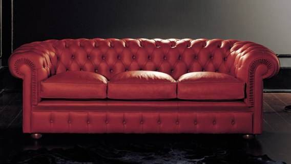 Red Leather Sofas – 14