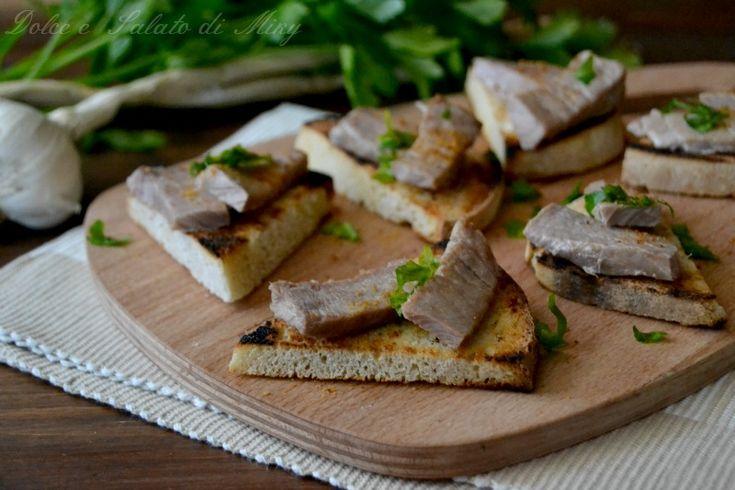 ricetta Crostini con tonno fresco| Dolce e Salato di Miky