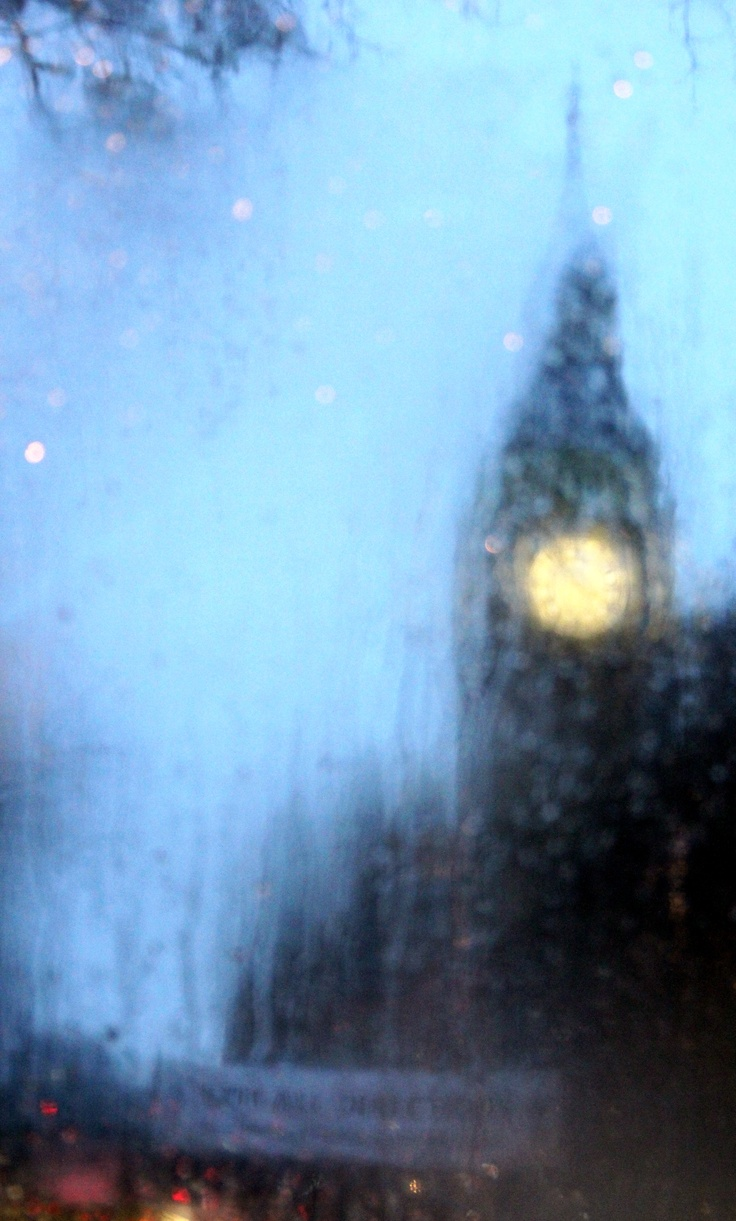 "London in the rain......WHEN YOU CAN'T EVEN SEE THE ""TIME"" ON BIG BEN, THEN YOU KNOW IT'S A DOWNPOUR............ccp"