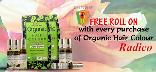 Get Free Roll On with every purchase of Organic Hair Colour