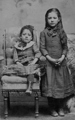 Portrait of Catarina and Caroline Pico, circa 1855. Catarina was a ward of General Andres Pico. In 1874 she married Romulo Pico, the son of General Andres Pico. San Fernando Valley Historical Society. San Fernando Valley  History Digital Library.