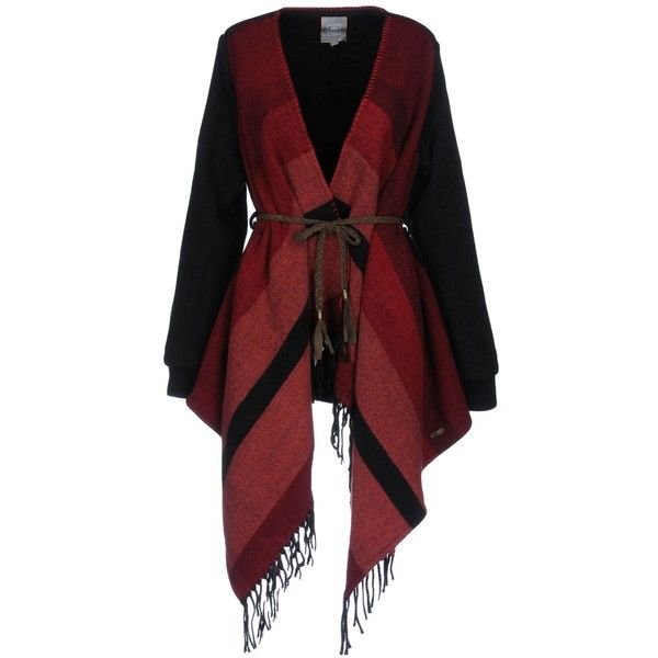 Ripcurl Coat ($79) ❤ liked on Polyvore featuring outerwear, coats, red, fringe coat, red coat, multi colored coat, single-breasted trench coats and colorful coat
