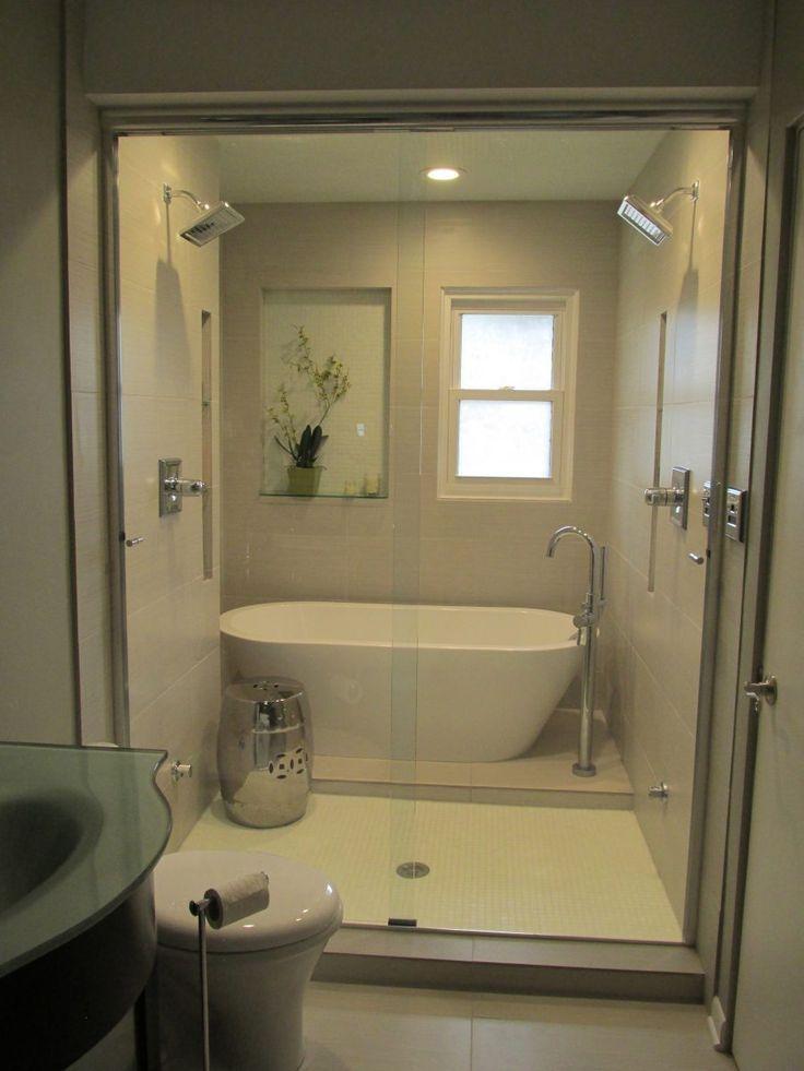 Eine Übergroße Badewanne Dusche Combo – Dies ist ein schönes, modernes design mit einem Hauch von Eleganz. Es ist einfach, mit einer dunkel… #Wohnkultur