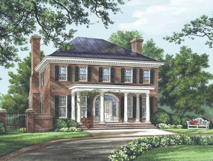 Eplans adam federal house plan the bristol 3280 for Adam federal house plans