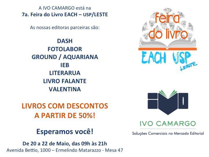 A Livro Falante está presente na Feira do Livro da USP Leste! Estamos no estande da Ivo Camargo. Vá até lá e conheça nossos audiolivros com descontos de 50%. Saiba mais em www.livrofalante.com.br