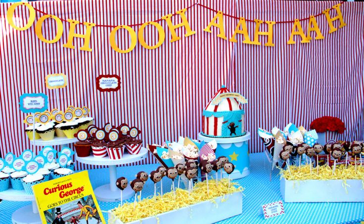 Curious George Birthday Party Ideas - #kidspartyCurious Greyson, 1St Bday, 1St Birthday, Birthday Parties Ideas, George Birthday, 3Rd Birthday, 2Nd Birthday, Birthday Party Ideas, Curious George