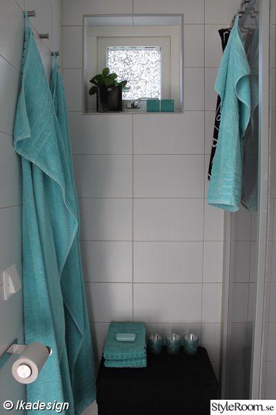 toalett,dusch,handfat,vedum,turkos,handdukshängare