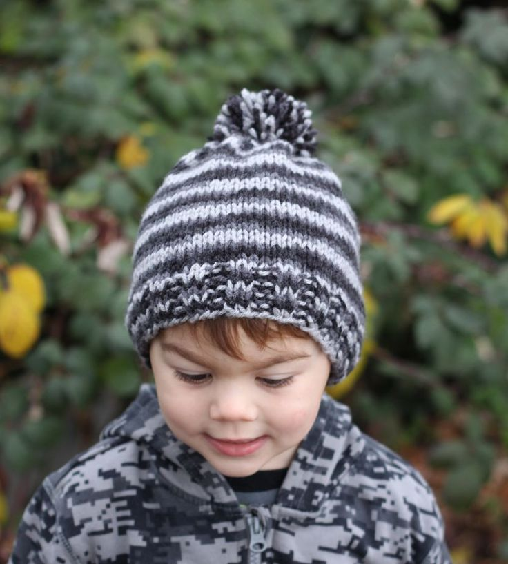 Childs Knitted Beanie Hat Pattern Images