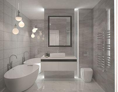 Ванная комната, зеркала в ванной, подсветка ванной, bathroom, отдельностоящая ванная