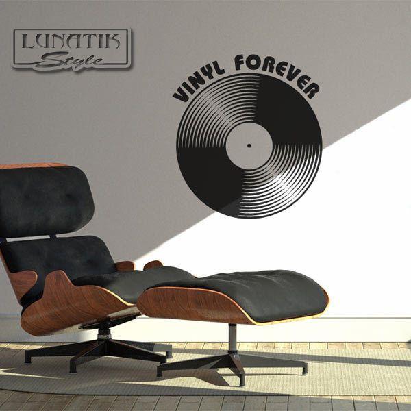 Wandtattoo Musik Vinyl forever - WA39 von Lunatik-Style via dawanda.com