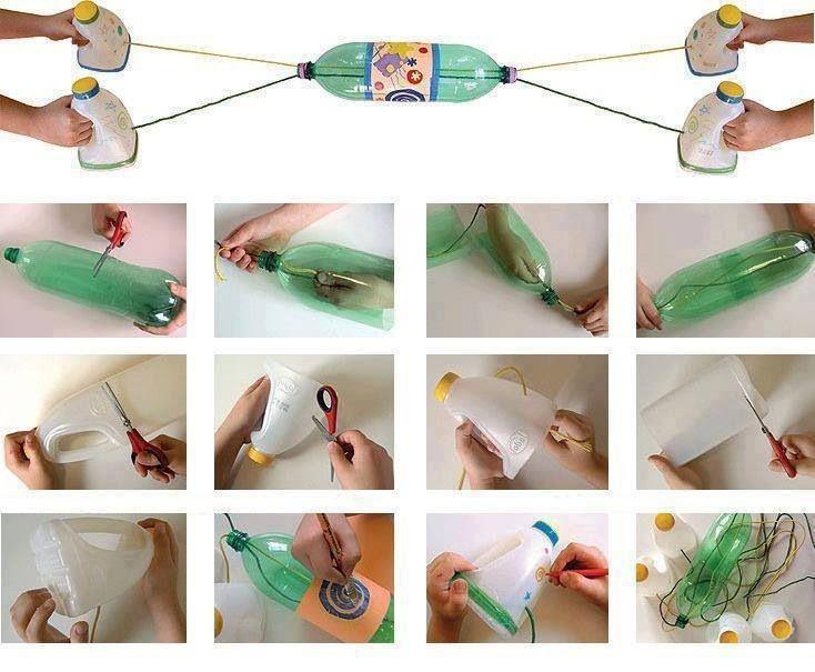 Wat een super leuk idee. Dit speelde ik vroeger al. En zo makkelijk maak je het zelf van een paar oude flessen.