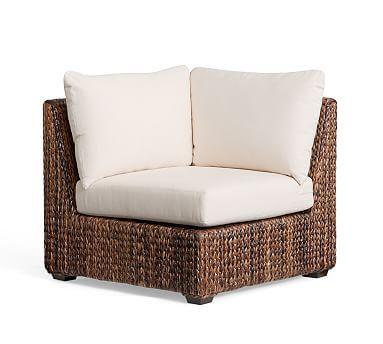 Seagrass Square Arm, Corner Chair, Havana Dark