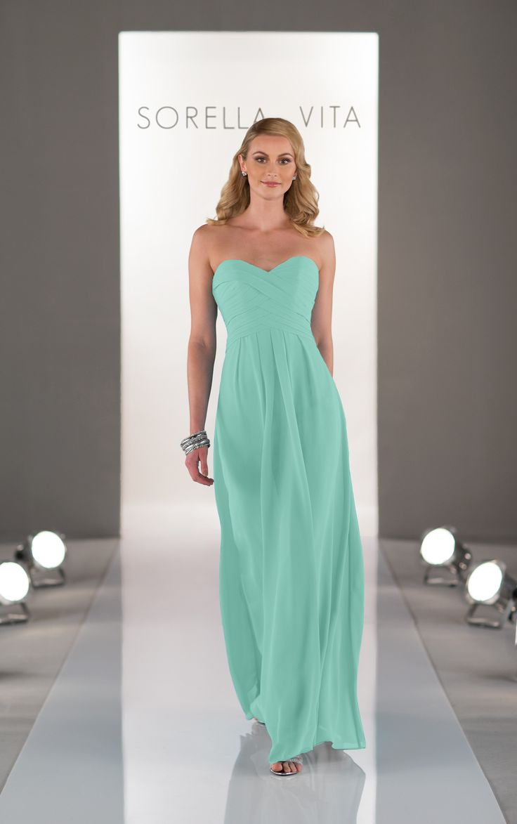 19 best sorella vita bridesmaid dresses images on pinterest strapless chiffon floor length bridesmaid dresses are truly unique with a criss crossed ruched ombrellifo Image collections