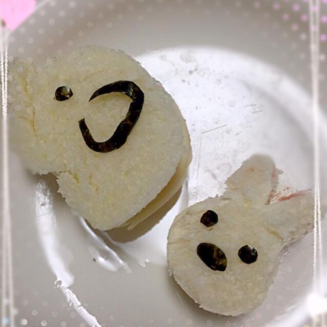 長男(3歳)のお弁当☆ ゾウさんがハムチーズサンド、ウサギさんがいちごジャムサンドです♪ - 41件のもぐもぐ - 息子のお弁当★ゾウさん&ウサギさんのサンドイッチ by ⁑葉月⁑