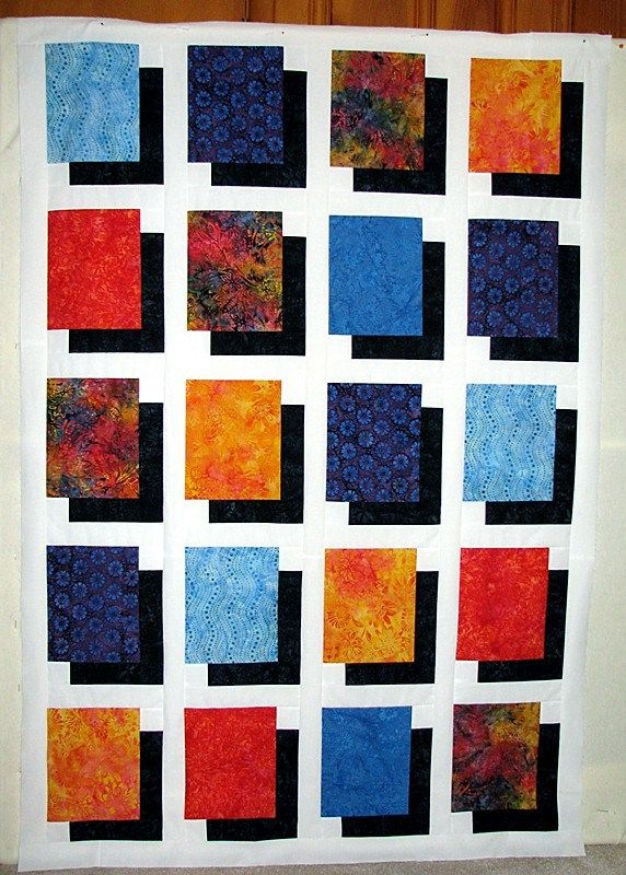 Would like to make one of these with batiks. ShadowQuilt tutorial.