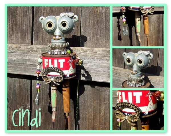 """Cindi"" by Paul MurrayMoremoremor Artsy, Handles Tater, Paul, More More Mor Artsy, Green Handles, Artsy Stuff, Altered Tins, Altered Art, Canton Finding"