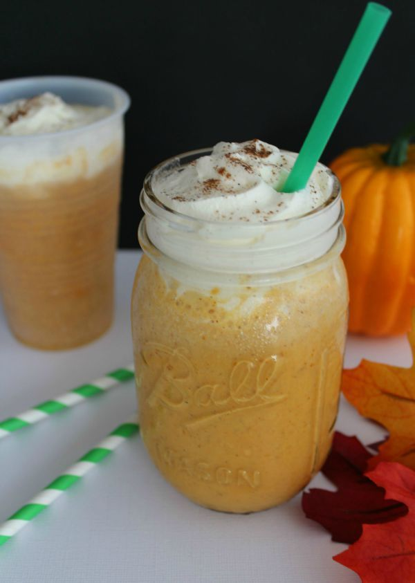 Try this Copycat Starbucks Pumpkin Spice Frappuccino the next time the craving hits you! SO easy and inexpensive to make at home any time you want.