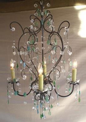 chandelier with semi-precious gems - wow