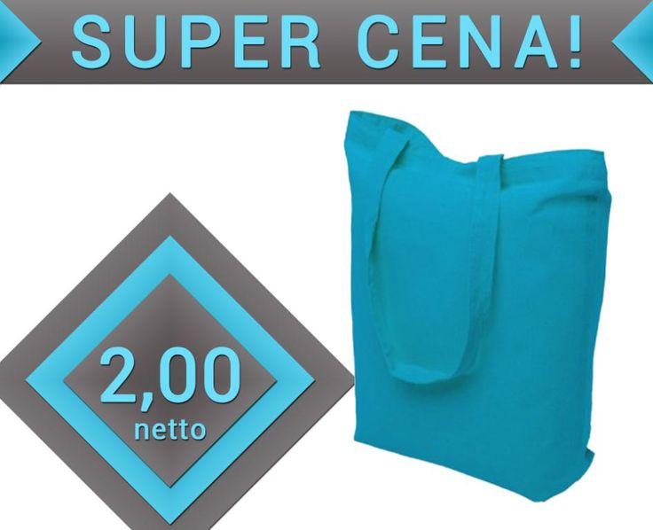 Jasnoniebieska torebka bawełniana torba eko OKAZJA