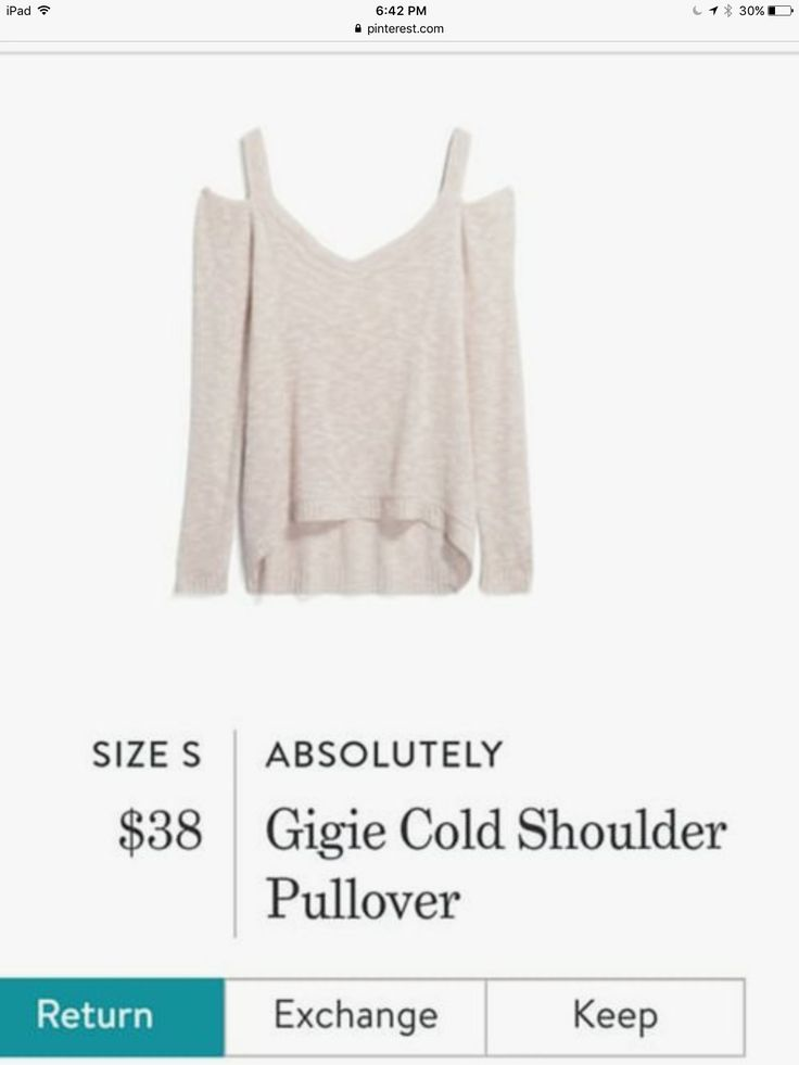 ANOTHER OFF-WHITE SWEATER. I THINK I MIGHT EVEN BE ABLE TO WEAR A REGULAR BRA. YAY.
