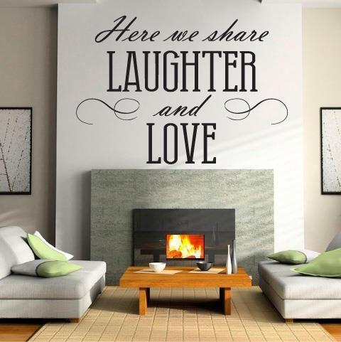 Interiérová samolepka Laughter&Love | Bella Rose