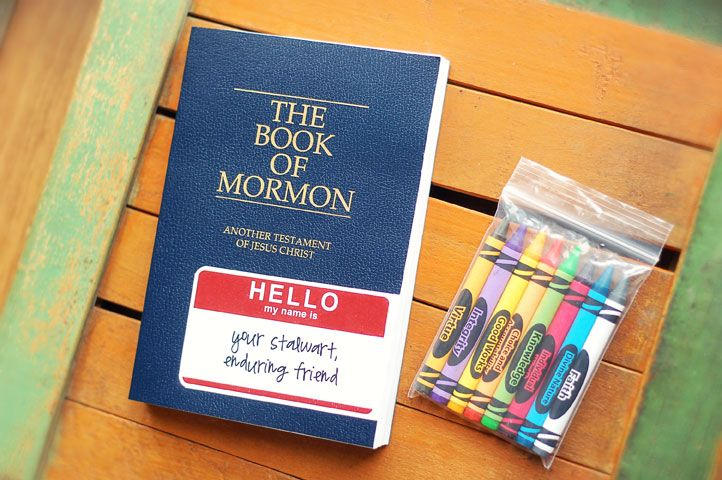 "YW Value Color Crayons - Book of Mormon activities with a friend tag with point from Elder Scott's talk ""The Power of Scripture"""