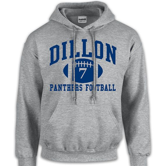 Dillon Panthers 7 Hoodie Sports Grey Friday Night by obshirts