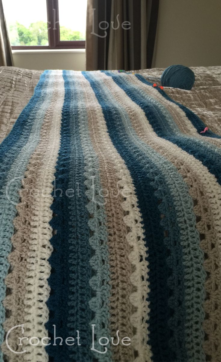 Currently working on this beautiful Attic 24 Cosy Stripe Blanket. Using…