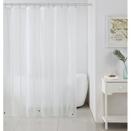 Ruthy's Textile Mildew-Free Peva Shower Liner 72 inch x 72 inch, Frost