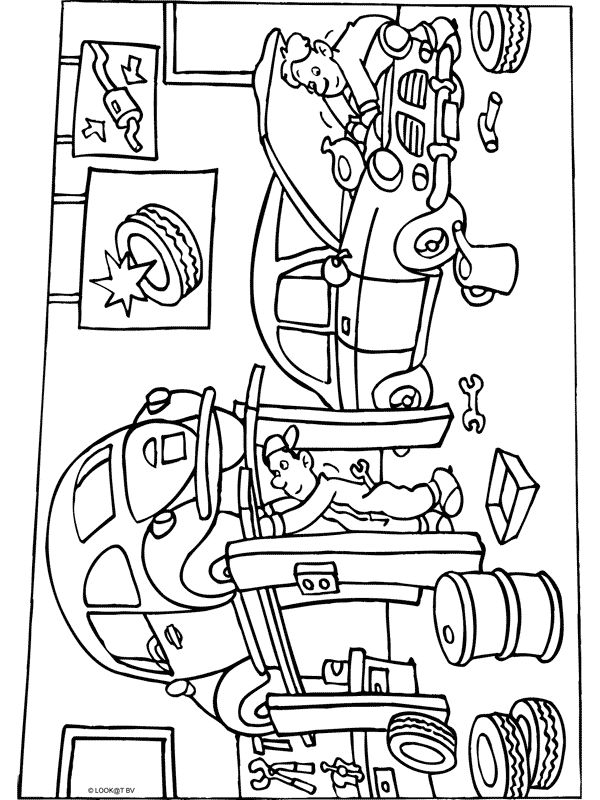 car garage coloring pages - photo#13