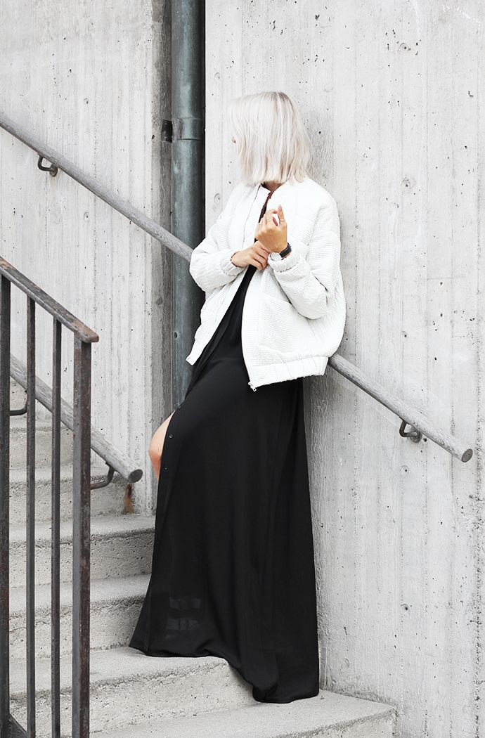 bestfashionbloggers:  MyDubio / Outfit: long dress and bomber http://ift.tt/1t1GQXv // see more at bestfashionbloggers.com  http://girlsinspo.com/