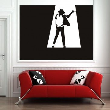 Michael jackson celebrity music wall art stickers decal icons celebrities people places