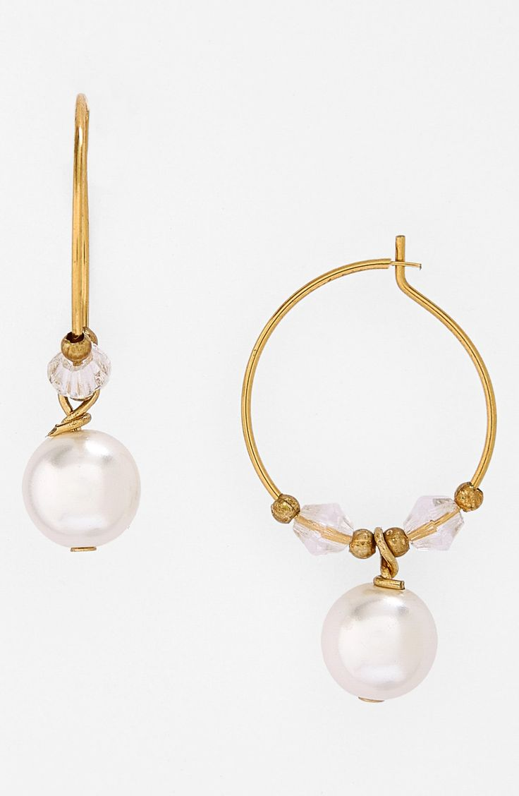 Pretty pearl hoop earrings.