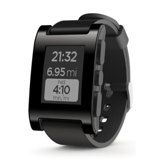 Pebble E-Paper Watch for iPhone and Android – Black