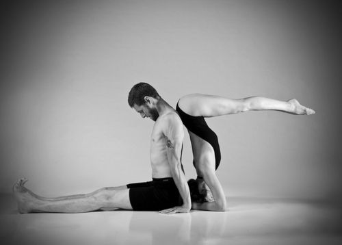 diaphanous-morning: DSC_2425_bw by Tim Bermingham on Flickr. Dandasana & Ardha Sirsasana
