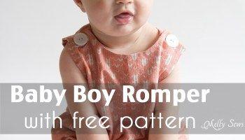 Baby Boy Romper Pattern - Sew Jon Jons